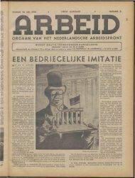 Arbeid (1944) nr. 11 - Vakbeweging in de oorlog