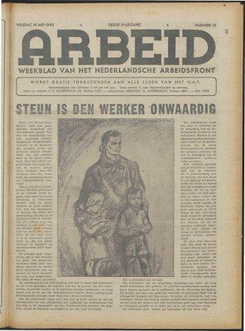 Arbeid (1943) nr.13 - Vakbeweging in de oorlog