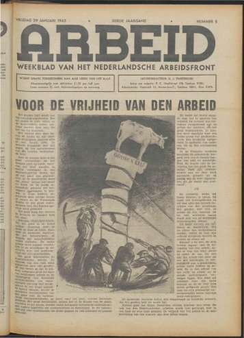 Arbeid (1943) nr. 5 - Vakbeweging in de oorlog