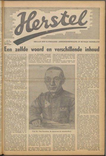 Herstel (1945) nr. 15 - Vakbeweging in de oorlog