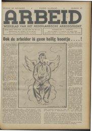 Arbeid (1942) nr. 47 - Vakbeweging in de oorlog