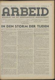 Arbeid (1942) nr. 26 - Vakbeweging in de oorlog