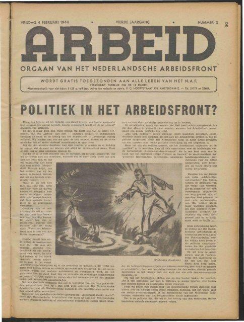 Arbeid (1944) nr. 3 - Vakbeweging in de oorlog