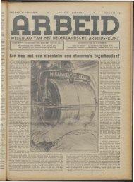 Arbeid (1942) nr. 49 - Vakbeweging in de oorlog