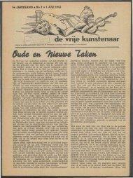 De Vrije Kunstenaar (1 juli 1945) - Vakbeweging in de oorlog