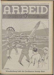 Arbeid (1941) nr. 36 - Vakbeweging in de oorlog