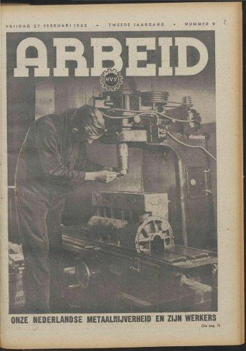 Arbeid (1942) nr. 9 - Vakbeweging in de oorlog