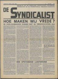 EEN OPSTANDIGE LUISTERVINK - Vakbeweging in de oorlog
