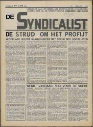 De syndicalist nr. 35 - Vakbeweging in de oorlog