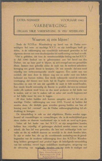 (1942) extra - Vakbeweging in de oorlog