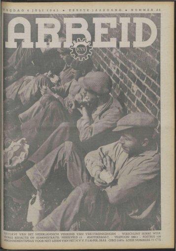 Arbeid (1941) nr. 26 - Vakbeweging in de oorlog