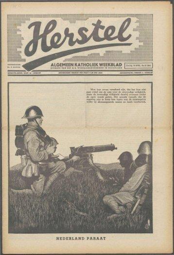 Herstel (1940) nr. 16 - Vakbeweging in de oorlog
