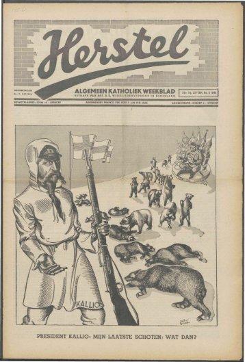 Herstel (1940) nr. 8 - Vakbeweging in de oorlog