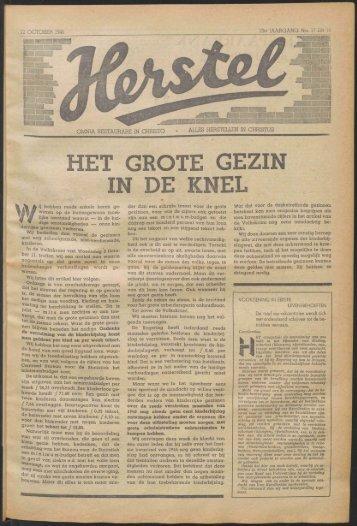 Herstel (1945) nr. 17 en 18 na de - Vakbeweging in de oorlog