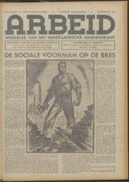 Arbeid (1942) nr. 37 - Vakbeweging in de oorlog