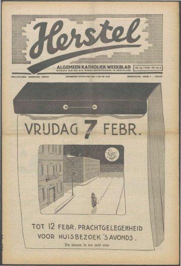 Herstel (1941) nr. 6 - Vakbeweging in de oorlog