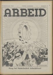 Arbeid (1942) nr. 19 - Vakbeweging in de oorlog