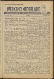 Werkend Nederland (1945) nr 32 - Vakbeweging in de oorlog