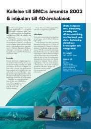 Kallelse till SMC:s årsmöte 2003 & inbjudan till 40-årskalaset