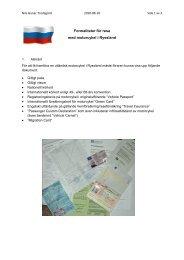Formaliteter för resa med motorcykel i Ryssland - SMC