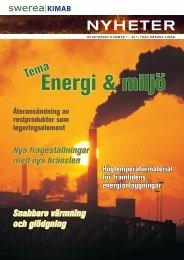 Nr1 2011 Energi & miljö - Swerea