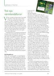 Två nya värmlandsfloror - Svenska Botaniska Föreningen