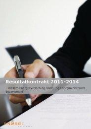 Resultatkontrakt 2011-2014 - Energistyrelsen