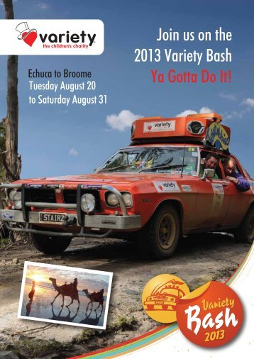 Join us on the 2013 Variety Bash Ya Gotta Do It!