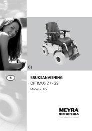 BRUKSANVISNING OPTIMUS 2 / - 2S - Meyra