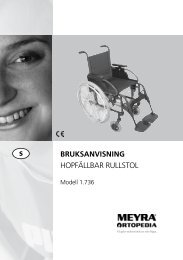 BRUKSANVISNING HOPFÄLLBAR RULLSTOL - Meyra
