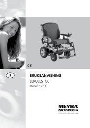 BRUKSANVISNING ELRULLSTOL - Meyra