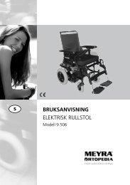 BRUKSANVISNING ELEKTRISK RULLSTOL - Meyra