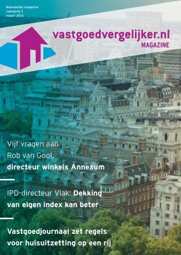 maart 2013 - Vastgoedvergelijker.nl