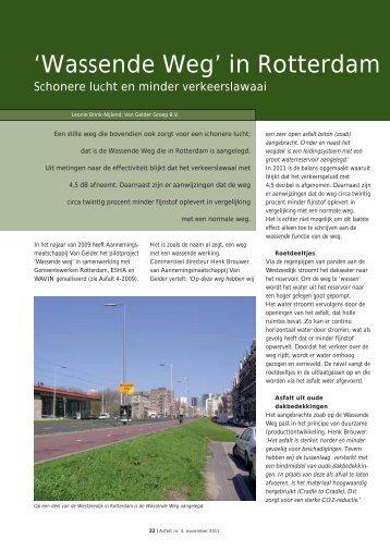 'Wassende Weg' in Rotterdam afgerond - VBW-Asfalt