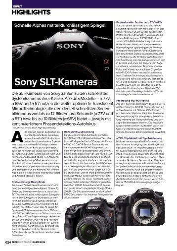 Sony SLT-Kameras - GFW.de