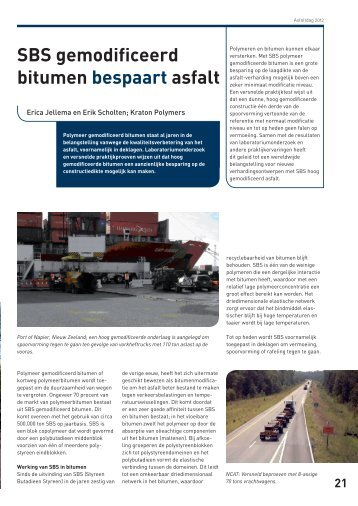 SBS gemodificeerd bitumen bespaart asfalt - VBW-Asfalt