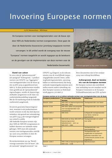 Invoering Europese normen - VBW-Asfalt