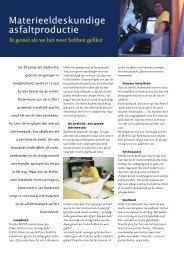 Materieeldeskundige asfaltproductie - VBW-Asfalt