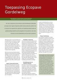 Toepassing Ecopave Gordelweg - VBW-Asfalt