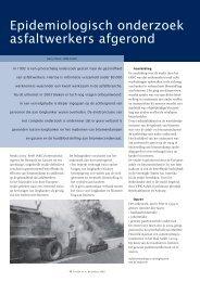 Epidemiologisch onderzoek asfaltwerkers afgerond - VBW-Asfalt