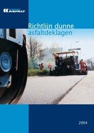 Richtlijn dunne asfaltdeklagen - VBW-Asfalt