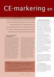 CE markering en technische bepalingen - VBW-Asfalt