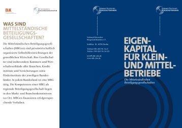Flyer MBGen (pdf, 349 KB) - Verband Deutscher Bürgschaftsbanken ...