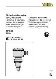 Sicherheitshinweise - Deutsch - Vega