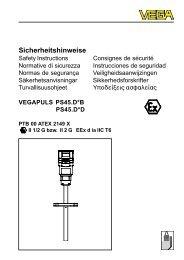 Sicherheitshinweise - Deutsch - VEGA Grieshaber KG