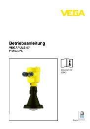 Betriebsanleitung DE - VEGA Grieshaber KG