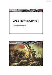 GÆSTEPRINCIPPET - Vejforum