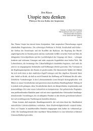 Utopie neu denken - Velbrück Wissenschaft