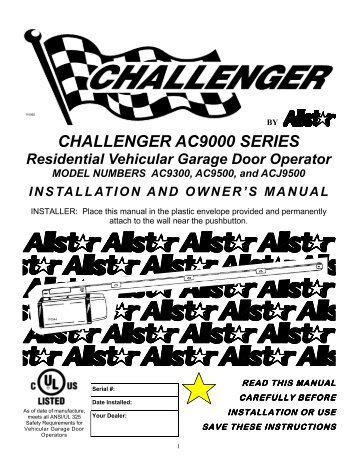 CHALLENGER AC9000 SERIES - Linear