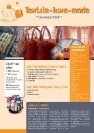 Textile-luxe-mode - Agence du développement économique de la ...